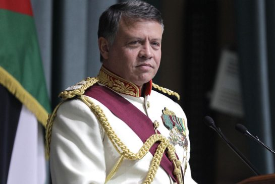 King Abdullah )), eldest son of Hussein: on his deathbed, the late monarch decided to give the throne not to his brother Hassan but to his eldest son. @All Rights Reserved