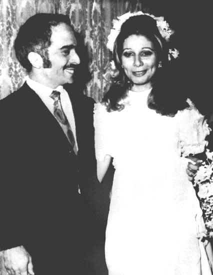 King Hussein of Jordan & Alia Baha Ad-Din Touqan, on their wedding day, in 1972 @ All Rights Reserved