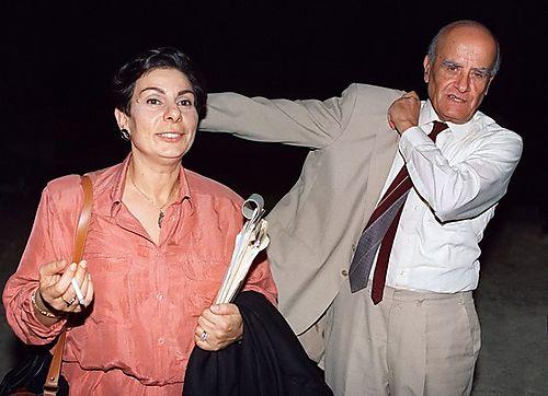 Hanan Ashrawi e Haidar Abdel-Shafi, em Madrid, 1991 @DR (Direitos Reservados | All Rights Reserved)