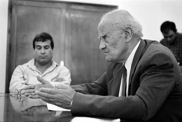 In 1996, he was elected to the Palestinian Legislative Council (PLC) with the highest number of votes as member for Gaza. He took up leadership of the PLC's political committee. He resigned as a deputy in the PLC in late 1997 to protest what he described at the time as the failure to deal with corruption in the Palestinian Authority. Two years later he initiated unity talks for all factions in Gaza. Following the outbreak of the second Intifada, he urged the Palestinian Authority (PA) to organize the Intifada rather than distance itself from it[citation needed], and to widen its democratic base by forming a government of national unity. He co-founded the Palestinian National Initiative in 2002 along with Edward Said, Mustafa Barghouti and Ibrahim Dakkak as a national platform for combining the struggle for national liberation and the return of refugees with the values of national unity, democracy and social justice. On April 8, 2007 he was presented with the Palestinian Star of Honor by President Mahmoud Abbas largely for his role as founding member and President of the Palestinian National Initiative. He died from cancer in Gaza aged 88. His funeral rally was attended by various political factions in Gaza in a rare show of unity. He is survived by his wife, four children (Hind, Khaled, Tareq, Salah) and seven grandchildren. @All Rights Reserved