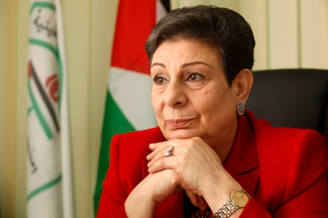 Palestinian politician Hanan Ashrawi, member of Palestinian Prime Minister Salam Fayyad's Third Way party, seen in her office in the West Bank city of Ramallah. Ashrawi is the first woman elected to the Palestinian National Council. January 31, 2012.  @Miriam Alster/FLASH90 ***