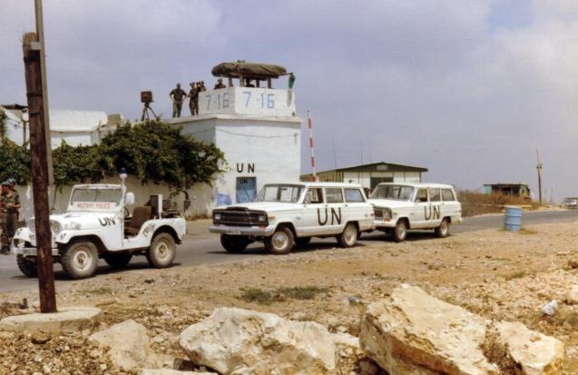 As Nações Unidas estacionaram uma força interina (UNIFIL) no Sul do Líbano mas esta nunca foi capaz de travar as várias  invasões israelitas. © Marco K. |    Wikimedia Commons