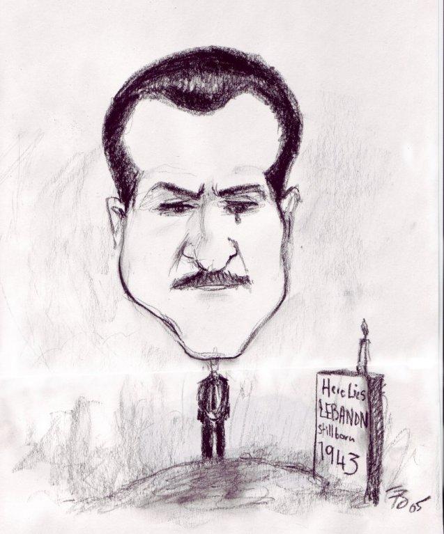 Gebran Tueni pagou com a vida a sua oposição à presença de tropas sírias no Líbano. Foi assassinado em 2005, após a partida dos últimos soldados de Damasco - uma retirada forçada por uma revolta popular. ©  Direitos Reservados | All Rights Reserved