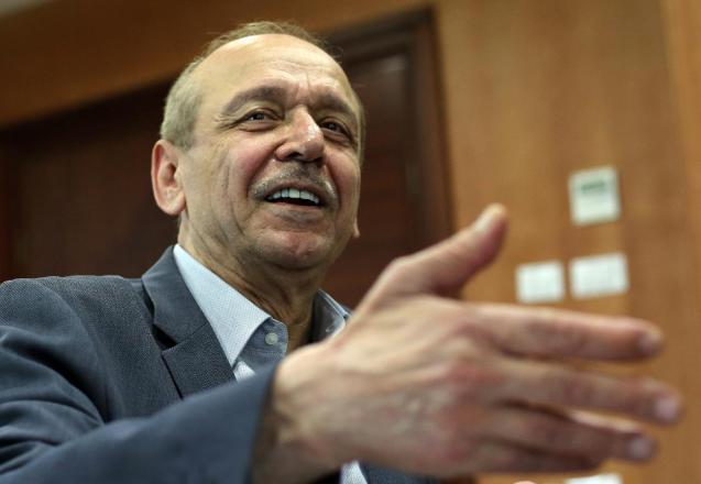 Secretário-geral da OLP,  Yasser Abed Rabbo, é  um dos pomotores da Iniciativa de Genebra, com Yossi Beilin, mas também esta não teve sucesso.  © Abbas Momani | AFP