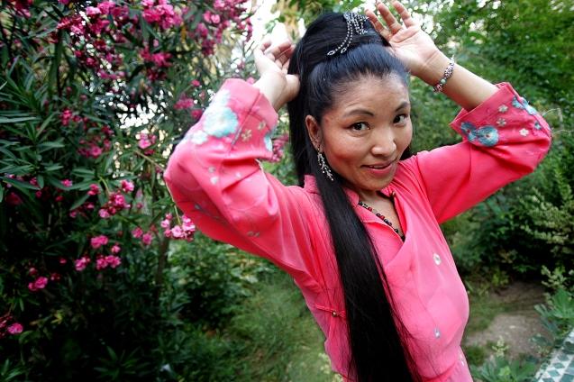 Yungchen Lhamo , cantora tibetana no festival de musicas sagradas . Fes , 05 de Junho de 2006 . @Enric Vives-Rubio