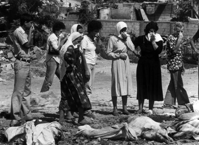 A invasão do Líbano, decisão do então ministro da Defesa de Israel, Ariel Sharon, em 1982, abriu caminho aos massacres de civis palestinianos nos campos de refugiados de Sabra e Shatila. @Magnum |HH