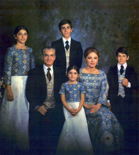 Pahlavi Family during the Good Old Days in Iran L to R: Pahlavi Family - Farahnaz Pahlavi, Mohammad Reza Shah Pahlavi, Reza Pahlavi, Leila Pahlavi, Shahbanu Farah Pahlavi and Alireza Pahlavi @DR