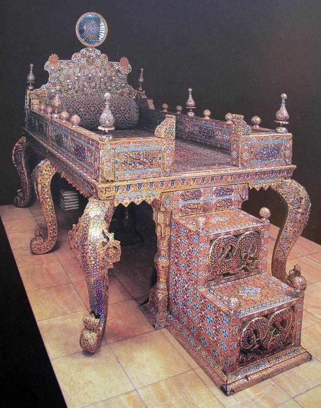 There has long been confusion about the origins of the Peacock (or Naderi) Throne that now sits in the National Jewels Museum. The real story is this: In 1798 Fath Ali Shah ordered a new throne to be built. His artists made quite a job of it, encrusting the vast throne that looks more like a bed with 26,733 gems. Set into its top was a carved sun, studded with precious stones, so the throne became known as the Sun Throne. Later Fath Ali married Tavous Tajodoleh, nicknamed Tavous Khanoum or Lady Peacock, and the throne became known as the Peacock Throne in her honour. Fath Ali certainly had a taste for gems, but one of his predecessors, Nader Shah, liked the finer things too. So much so, in fact, that he invaded India in order to recover the Kuh-e Nur diamond. During the expedition he also bagged the Moghuls' famous Peacock Throne. But during the haul back to Persia, this piece of booty fell into the hands of rebellious soldiers, who hacked it up to spread the wealth among themselves. In the intervening years the stories of the Peacock Thrones have become muddled, so you might still hear people say (erroneously) that this Peacock Throne originally came from India. @Lonely Planet