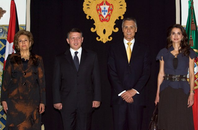 Jordanian and Portuguese presidential couples during the King's visit to Palácio de Belém, in Lisbon @All Rights Reserved