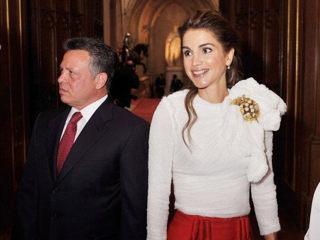 O rei e a rainha da Jordânia: ele é filho de uma inglesa; ela tem origem palestiniana. @Dr (Direitos Reservados | All Rights Reserved