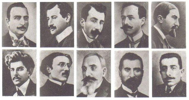 Armenian intellectuals who were arrested and later executed en masse by Young Turk government authorities on the night of 24 April 1915. @DR