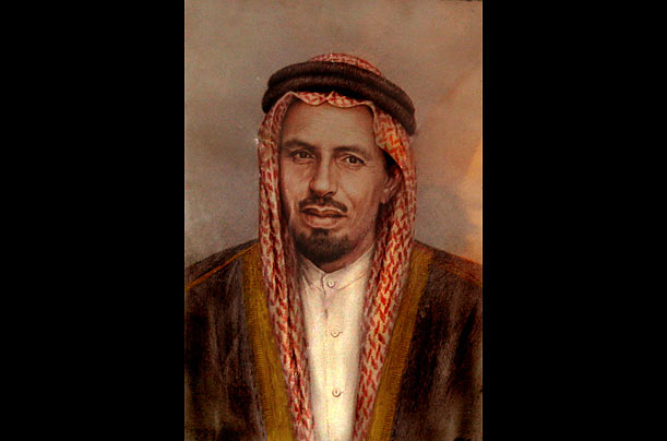 Mohammed bin Laden The grand patriarch of the bin Laden family, a billionaire industrialist and father of Osama, appears in a 1964 painting. @Photo Essays - TIME