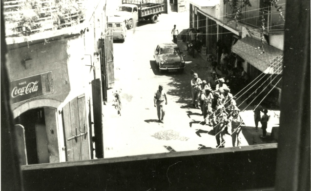 A United Nations Police Peacekeeping Force, containing members of the Queensland Police contingent, patrol Cyprian streets. Second Australian contingent 1965 – 1966. @DR