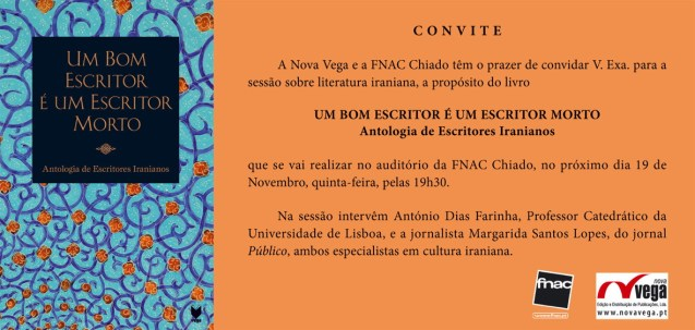 Convite - Antologia de Escritores Iranianos (1)