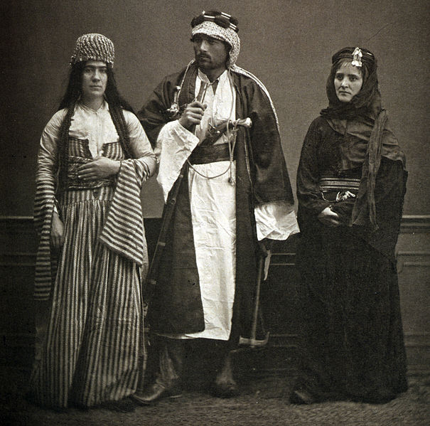 A Jewish woman and a couple of Bedouins in Aleppo, 1873 ©
