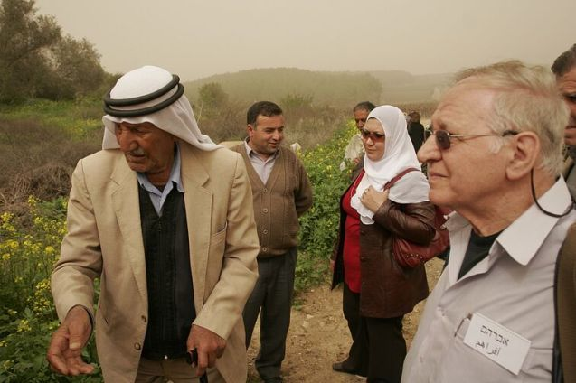 """Knowing is the Beginning"" - PCFF members visiting a village which existed before 1948 , called Ekbeba. (2007) © mepeace"