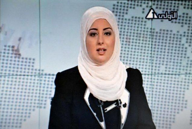Fatma Nabil, quando quabrou uma tradição de décadas e apresentou o noticiário do canal 1 da televisão estatal egípcia envergando hijab (lenço). @AFP