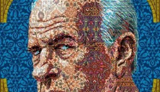 Um ilustração de Amitai Sandy, com o rosto de Yitzhak Rabin, publicada pelo diário Ha'aretz. Em tribunal, o cúmplice do seu assassino, Hagay Amir, declarou que fez abortar duas tentativas de o irmão, Yigal, matar o primeiro-ministro. Garantiu também que este não o avisou de que iria usar as armas por ele calibradas para consumar o crime. © Amitai Sandy | Ha'aretz