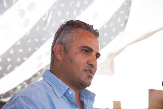 Emad Burnat, o palestiniano que realizou 5 Broken Cameras, outro docmentário nomeado para o Óscar, no mesmo ano que The Gatekeepers, de Dror Moreh. @Udi Goren
