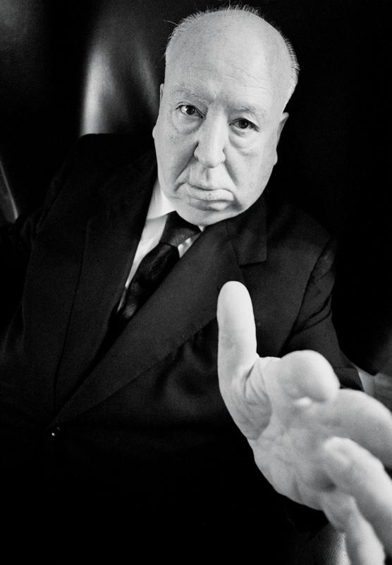 O cineasta Alfred Hitchcok @ Ara Güler