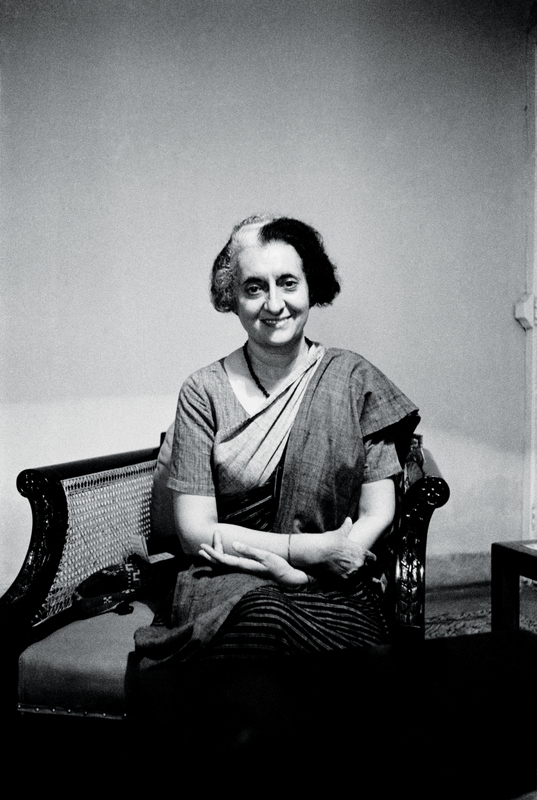 The late Indian prime minister Indira Gandhi @ Ara Güler
