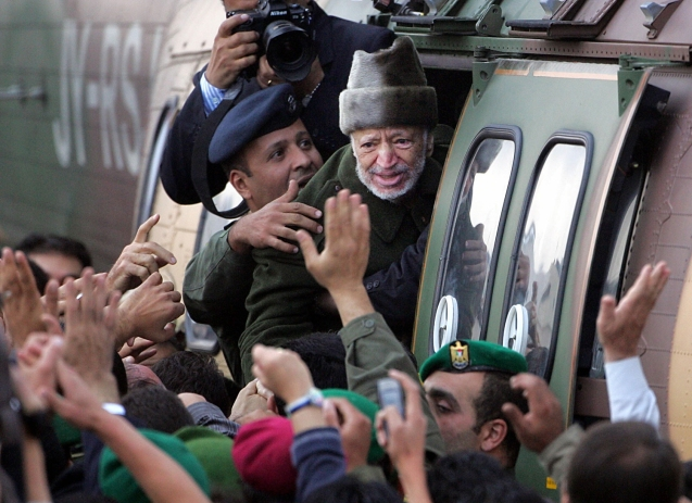 Image: Ailing Palestinian leader Yasser Arafat in 2004