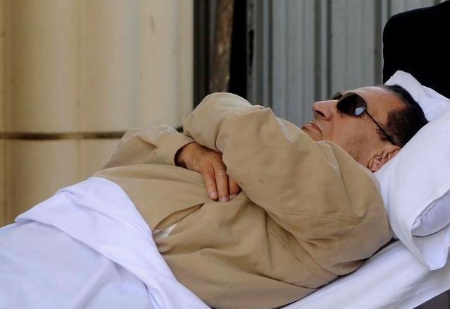 Ousted Egyptian president Hosni Mubarak