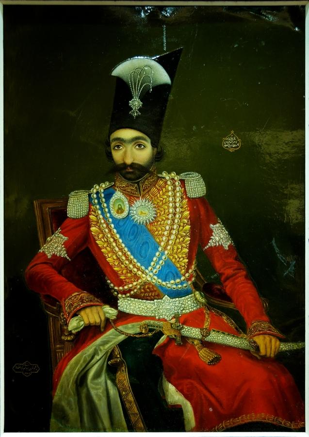 Retrato de Nasser al-Din, o Xa da dinastia Qajar (1831–1896). Pintura a óleo, datada de 1274, está exposta no Museu do Louvre em Paris. @DR (Direitos Reservados | All Rights Reserved)