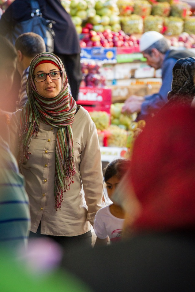 Ohood Murqaten, uma palestiniana muçulmana, coordenadora do YaLa para a Cisjordânia. @Udi Goren