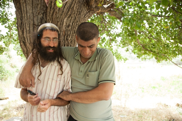"Shaul Judelman and Ziad Sabateen plan to create the Heavens Field Farm, which will put ""emphasis on belonging to the land, not ownership of it,"" according to their joint manifesto. Their idea is to run an organic farm that will sell vegetables in local markets, support families in need, and attract volunteers and tourists. Among their partners are a joint Israeli Palestinian journal, called Maktub, and other nonpolitical groups such as Eretz Shalom (Land of Peace). © Udi Goren"