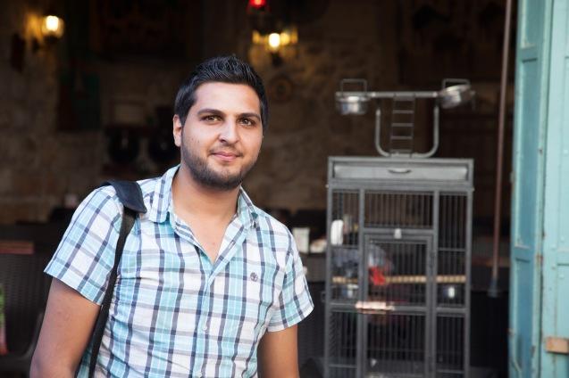 Thaer Abdallah, um palestiniano cristão, também coordenador do YaLa para a Cisjordânia @Udi Goren