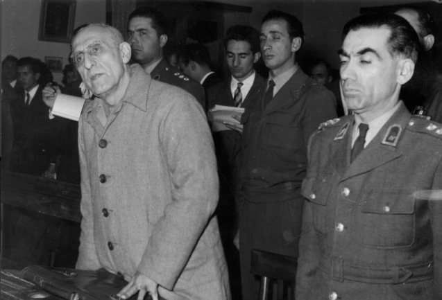 Former Iranian Premier Mohammed Mossadegh is sentenced to three years solitary confinement by a military court in Tehran, Iran, on Dec. 21, 1953. The court found him guilty on 13 charges of acting against the Shah. @AP Photo)