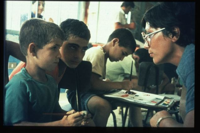 From the kindergarden and school at Tel-el-Zaatar, in 1975 @All Rights Reserved