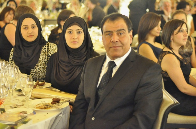 zzeldin Abuelaish with daughters, Shatha, left, and Dalal, May 30 at the first Daughters for Life gala. ©Asad Rahman