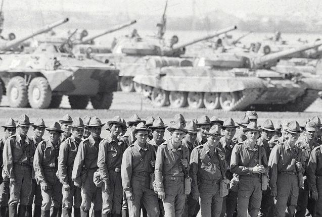 "Troop withdrawal from Afghanistan"". Soviet troops returning home from Afghanistan. ©"