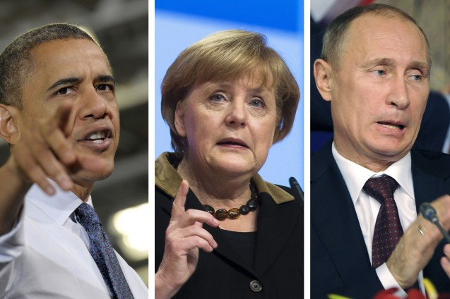 "Barack Obama, Angela Merkin e Vladimir Putin: os ""donos"" do mundo? © Direitos Reservados 