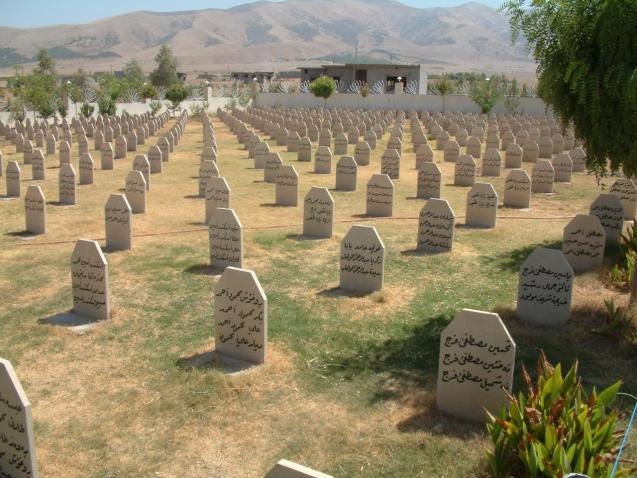 """Halabja is a town about 70 km from Suleymaniya, towards the East, and near the Iranian border. In 1988, during Saddam's reign, the Iraqi government started the """"Anfal"""" Campaign, aimed at eradicating the Kurdish people in the North. During the 9 months of this military action, more then 180,000 Kurdish people were killed and many more disappeared. The Iraqi Airforce bombed several times with chemicals to destroy whole regions in the course of a morning. Halabja is the most written about. During the bombing of Halabja, more then 5,000 people were killed by the chemicals, and 20,000 injured. Halabja still shows the scars of that attack. The pictures are from several monuments in memorial of that infamous day. © nijmannews.org/halabja"""