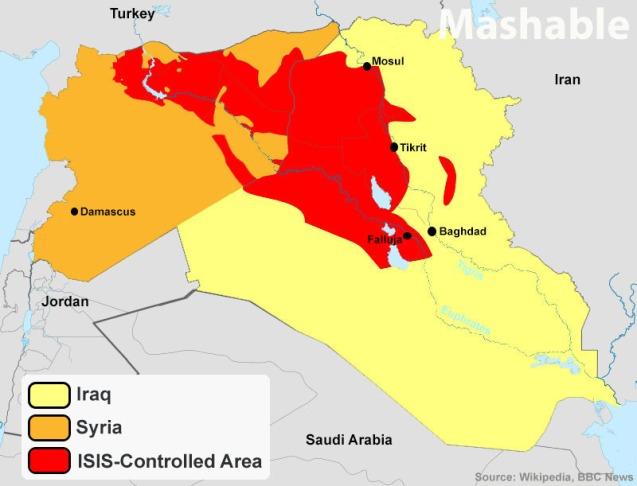 Um mapa sem fronteiras A Amarelo: A Laranja: A Vermelho ©Mashable