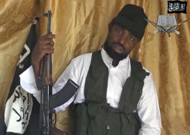 A still from a video obtained by news agency AFP shows a man claiming to be Abubakar Shekau, the current leader of Boko Haram. @ AFP | Getty Images