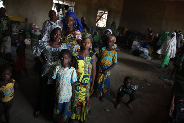 Hundreds of Muslim residents of Kachia have been forced to move to a displacement camp after their homes, shops and mosques were burned © Jesse McLean