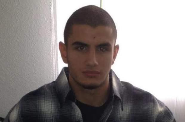 Omar Abdel Hamid El-Hussein, dinamarquês de ascendência palestiniana, 22 anos, que teria sido libertado semanas antes por ligação a vários bandos extremistas. Em sua posse foram encontradas várias armas]. © www.bt.dk