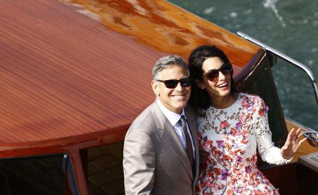 No dia 27 de Setembro de 2014, o actor George Clooney e a advogada Amal Alamuddin casaram-se em Veneza (Itália). Nem todos na comunidade drusa libanesa a que Amal pertence ficaram felizes: os membros desta minoria são aconselhados a recusar casamentos mistos. © Pierre Teyssot | Getty Images