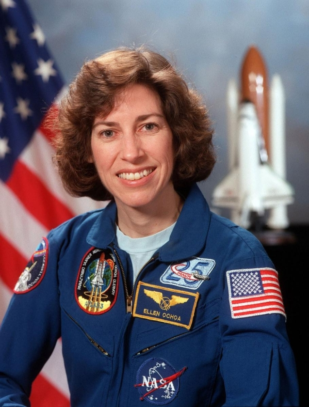 Dr. Ellen Ochoa, former astronaut and ... of the John Space Center is the idol of engineer Soha Alqeshawi. © NASA