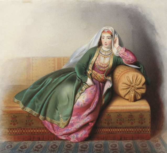 Armenian Lady, GG Gagarin (1840s). Daghestan Museum of Fine Arts PS Gamzatova. © All Rights Reserved