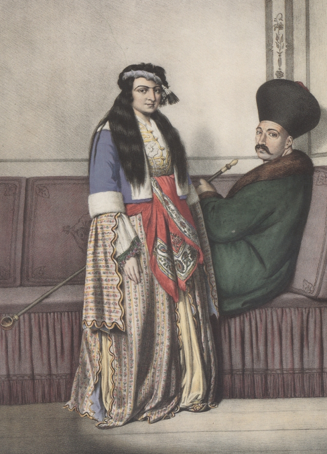 An Armenian couple in Istanbul at the early 19th Century. © Louis Dupré.