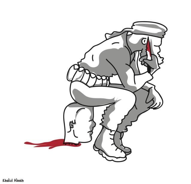 """©Te Middle East has no heroes (""""O Médio Oriente não tem heróis"""") @ projectpen.com/blog"""