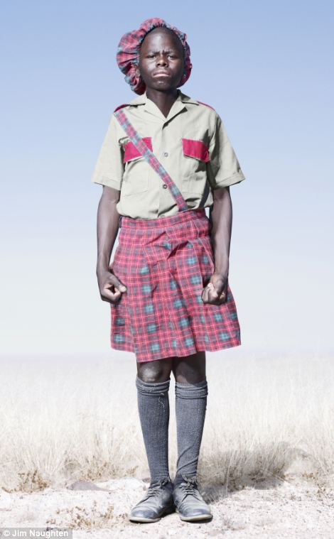Standing to attention: A Herero cadet. ©