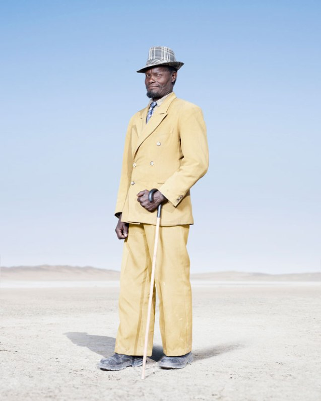 """This man is among the photographer's favorite subjects: """"For walking in front of the camera/lighting set up without saying a word, posing so perfectly for one shot, and then walking off smiling."""" © Jim Naughten 
