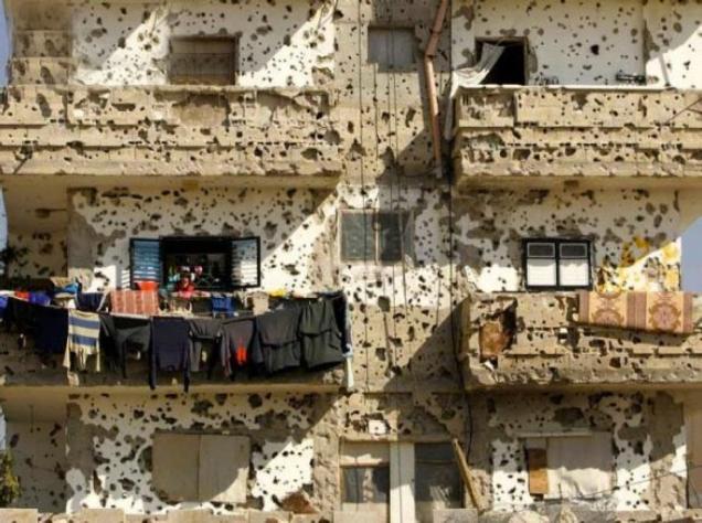 Imagem de um dos campos de refugiados palestinianos no Líbano depois da guerra de 1985-1987 travada entre a milícia xiita Amal contra a OLP, a mando do anterior Presidente sírio, Hafez al-Assad. © Direitos Reservados | All Rights Reserved