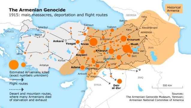 Map of the Armenian genocide via Fanack.com © vox.com